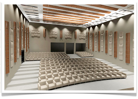 Vicoustic - Poly Wood Fuser, concert hall